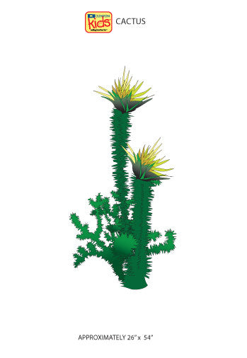 "Wall Stickers for Pediatric Exam Rooms - Cactus - 26"" x 54"" -"