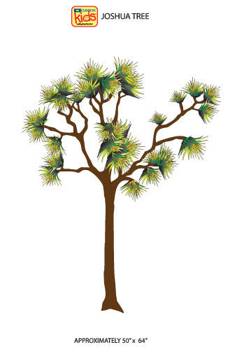 "Wall Stickers for Pediatric Exam Rooms - Joshua Tree - 50"" x 64"" -"