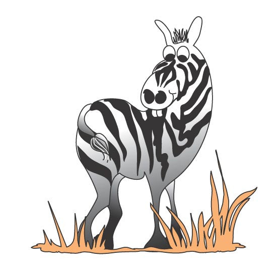 "Pediatric Exam Room Graphics - Zebra - 14"" -"