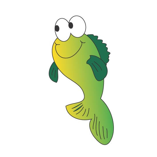 "Pediatric Exam Room Graphics - Fish - 14"" -"