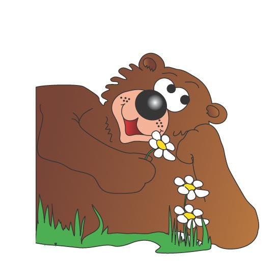 "Pediatric Exam Room Graphics - Friendly Bear - 14"" -"
