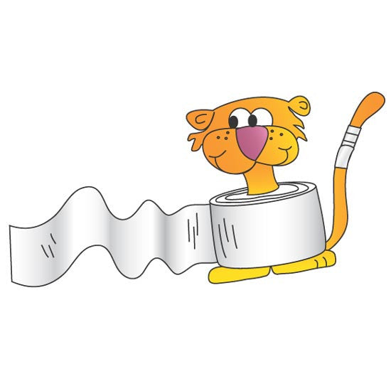 "Pediatric Exam Room Graphics - Bandage Tiger - 7"" -"