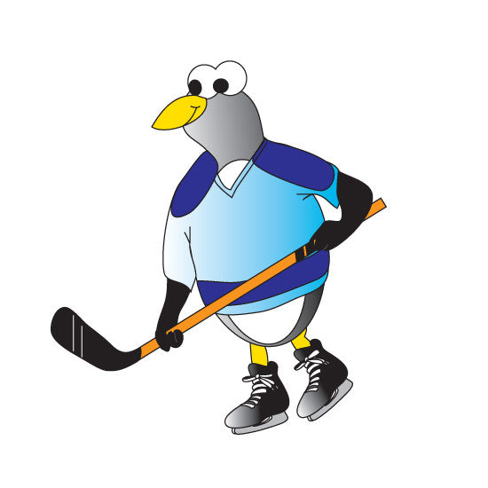 "Pediatric Exam Room Graphics - Hockey Penguin - 9"" -"
