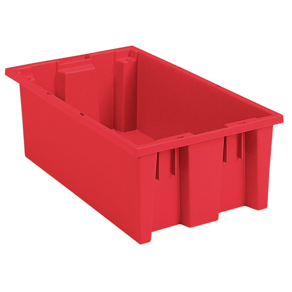 "Akro-Mils Nest & Stack Tote 35180 - 18"" x  11"" x 6"" - Red"