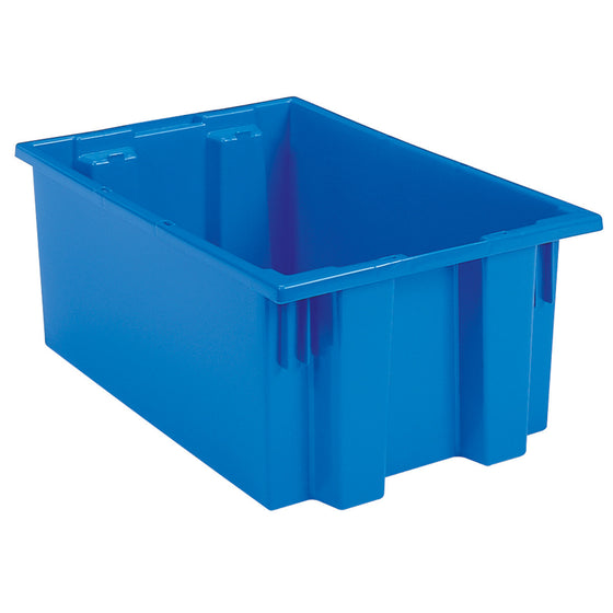 "Akro-Mils Nest & Stack Tote 35190 - 19-1/2"" x 15-1/2"" x 10"" - Blue"
