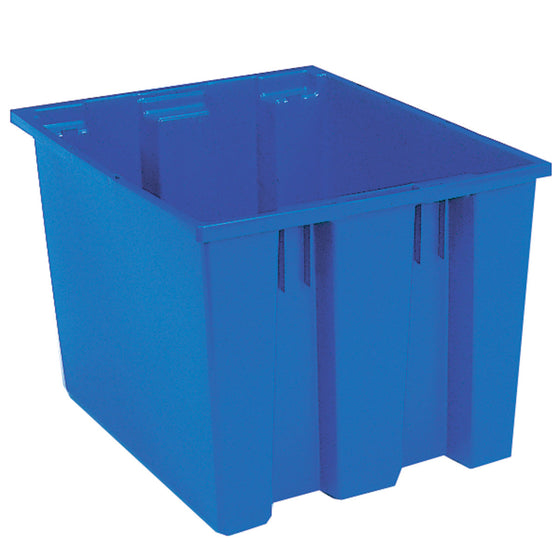 "Akro-Mils Nest & Stack Tote 35195 - 19-1/2"" x 15-1/2"" x 13"" - Blue"