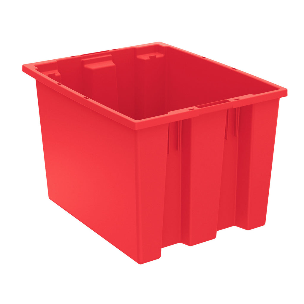 "Akro-Mils Nest & Stack Tote 35195 - 19-1/2"" x 15-1/2"" x 13"" - Red"