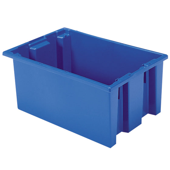 "Akro-Mils Nest & Stack Tote 35200 - 19-1/2"" x 13-1/2"" x 8"" - Blue"