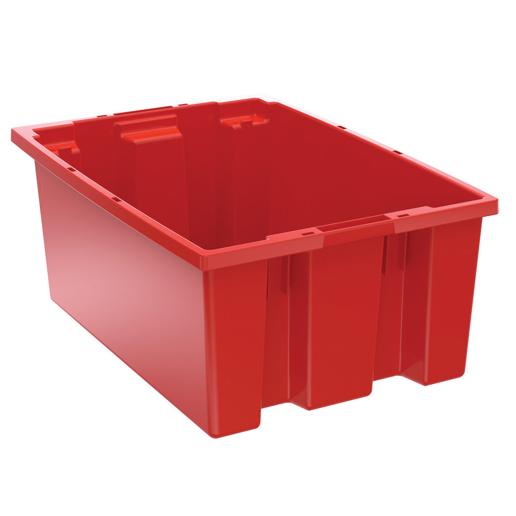"Akro-Mils Nest & Stack Tote 35200 - 19-1/2"" x 13-1/2"" x 8"" - Red"