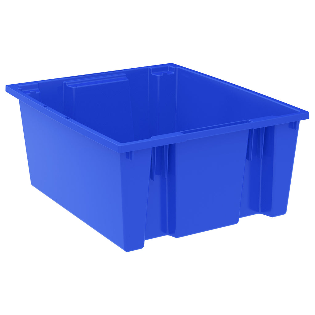 "Akro-Mils Nest & Stack Tote 35225 - 23-1/2"" x 19-1/2"" x 10"" - Blue"