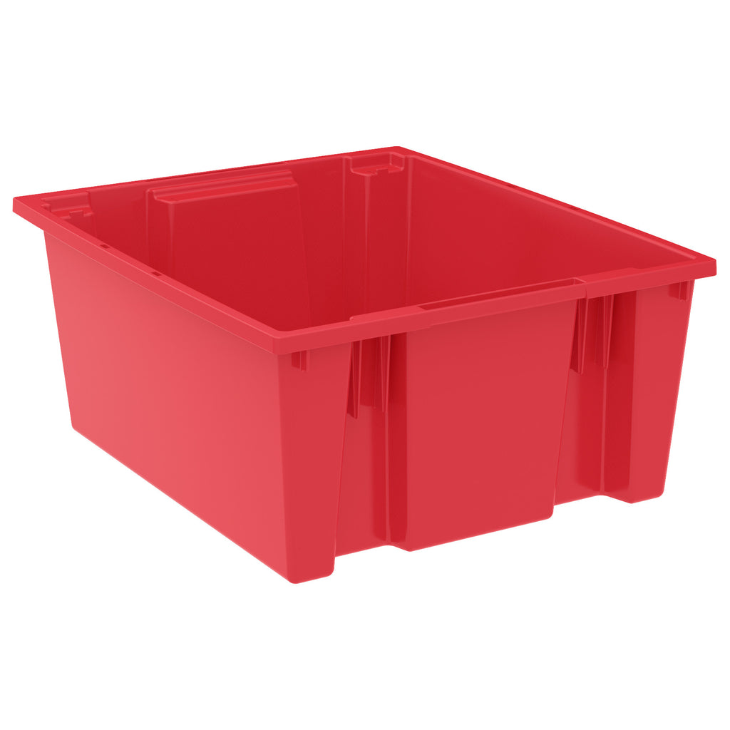 "Akro-Mils Nest & Stack Tote 35225 - 23-1/2"" x 19-1/2"" x 10"" - Red"