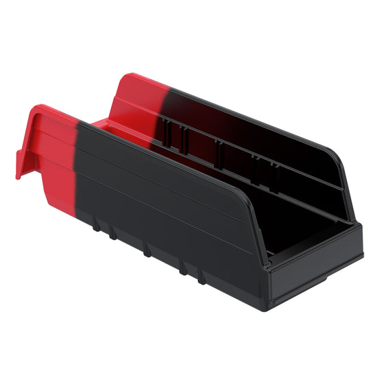"Akro-Mils Indicator Bin 36442 - 11-5/8"" x 4-1/4"" x 4"" - Black/Red"