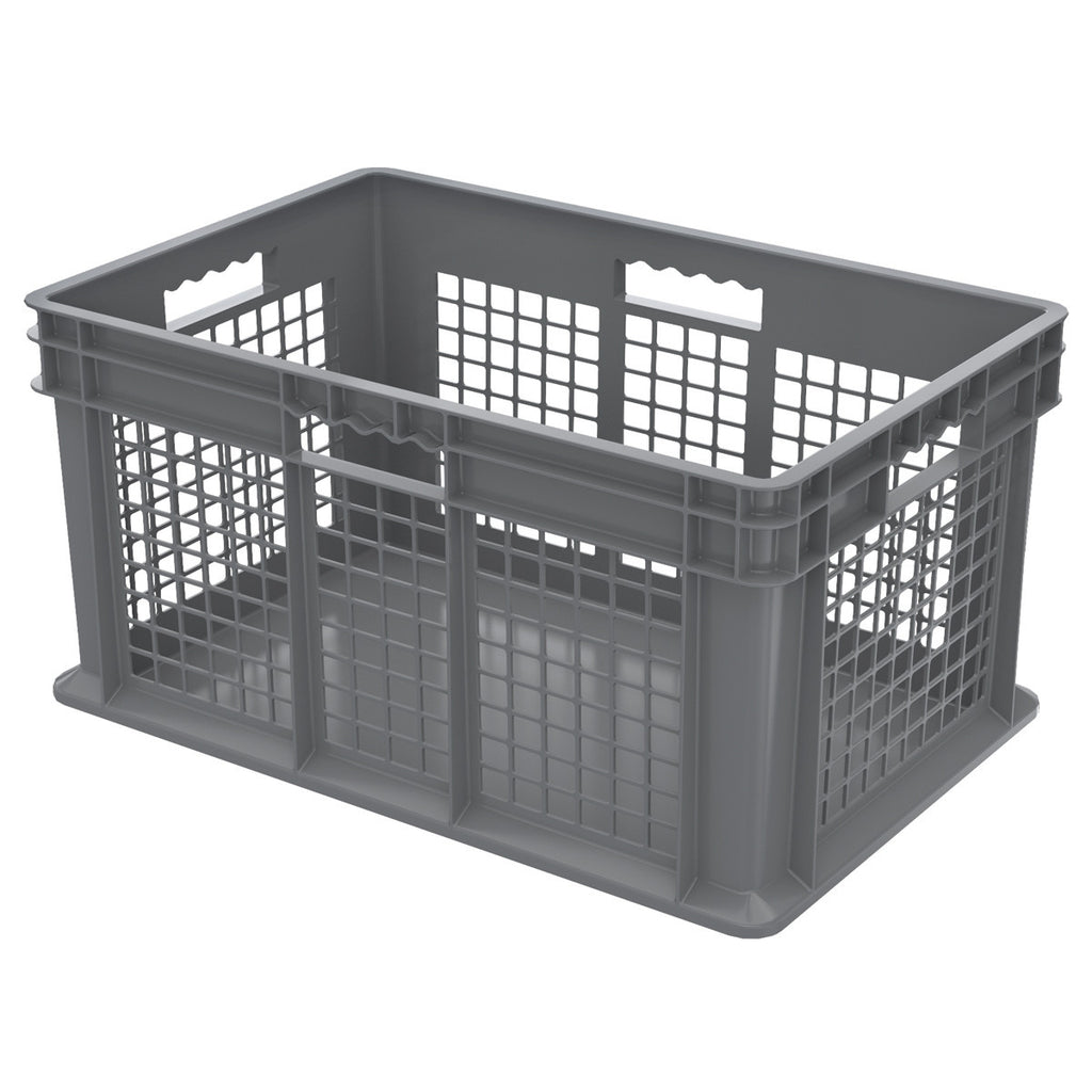 Akro-Mils Straight Wall Container - Mesh 23-3/4 x 15-3/4 x 12-1/4 - Gray