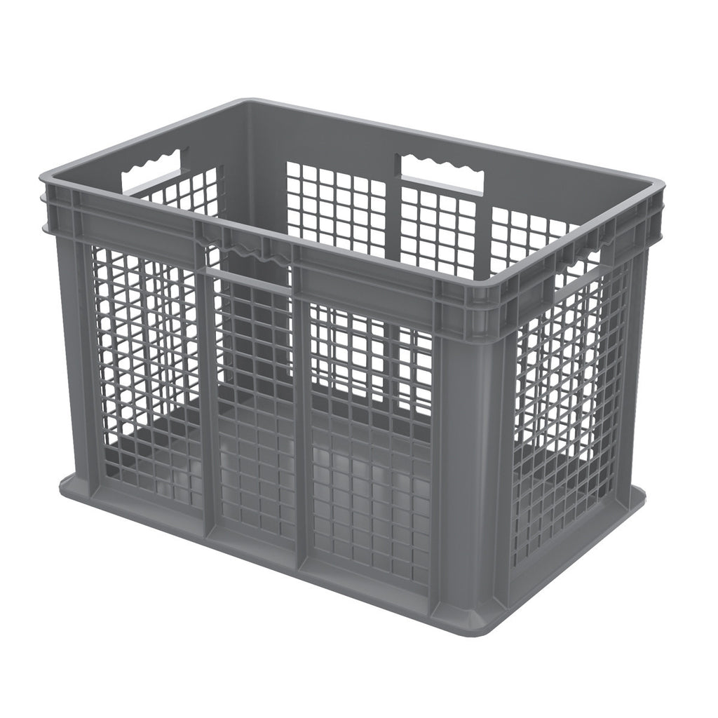 Akro-Mils Straight Wall Container - Mesh 23-3/4 x 15-3/4 x 16-1/8 - Gray