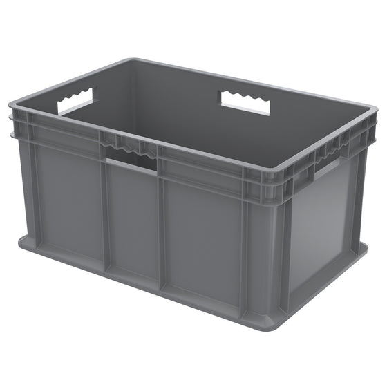 Akro-Mils Straight Wall Container - Solid 23-3/4 x 15-3/4 x 12-1/4 - Gray