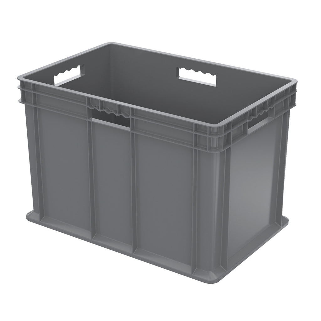 Akro-Mils Straight Wall Container - Solid 23-3/4 x 15-3/4 x 16-1/8 - Gray