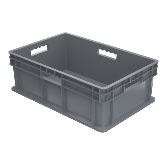 Akro-Mils Straight Wall Container - Solid 23-3/4 x 15-3/4 x 8-1/4 - Gray