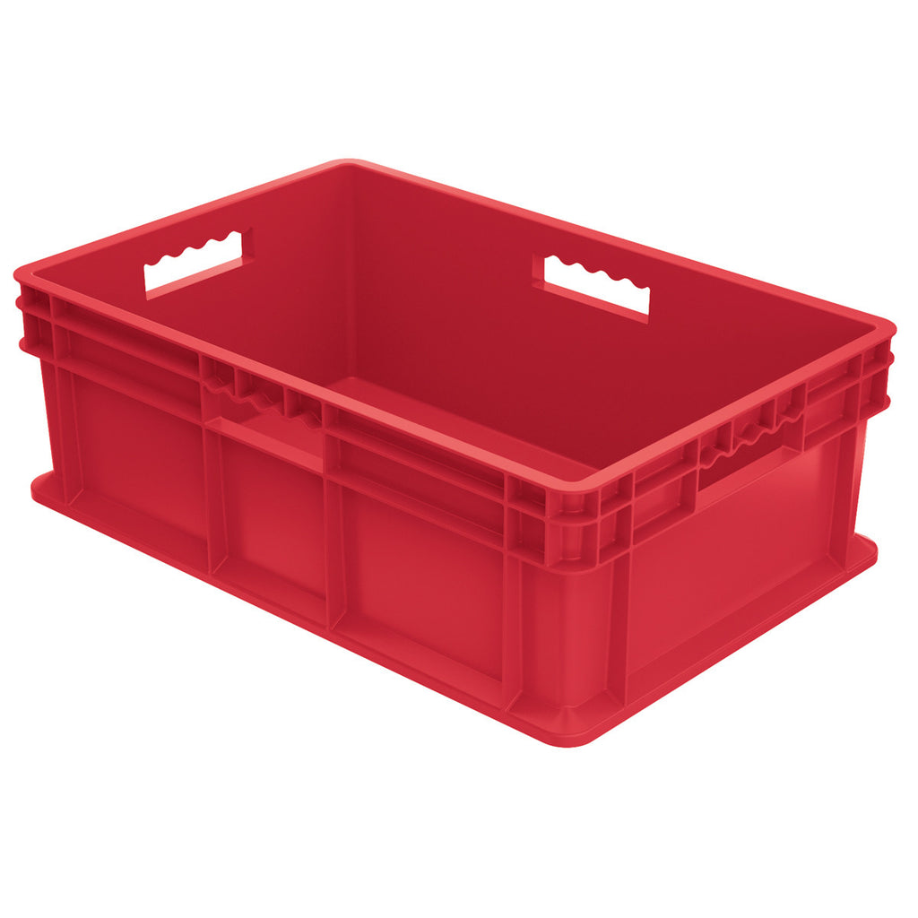 Akro-Mils Straight Wall Container - Solid 23-3/4 x 15-3/4 x 8-1/4 - Red