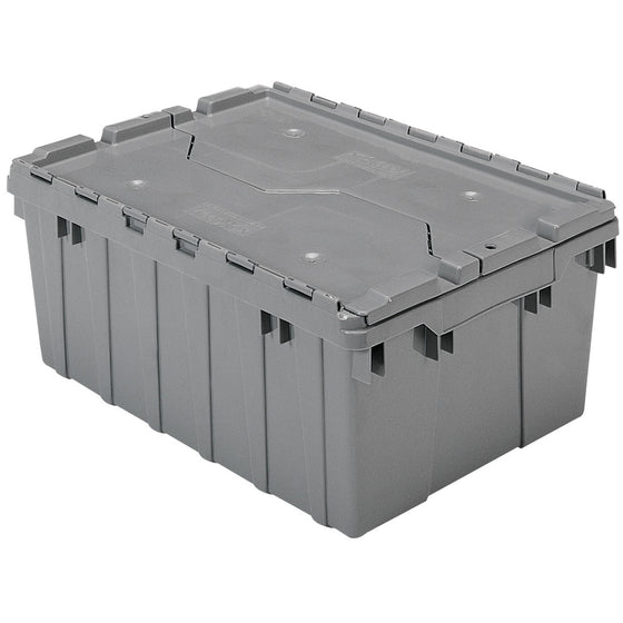 "Akro-Mils Attached Lid Container 39085 21-1/2"" x 15"" x 9"" - Grey"