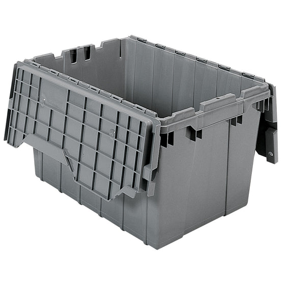 "Akro-Mils Attached Lid Container 39120 21-1/2"" x 15"" x 12-1/2"" - Grey"