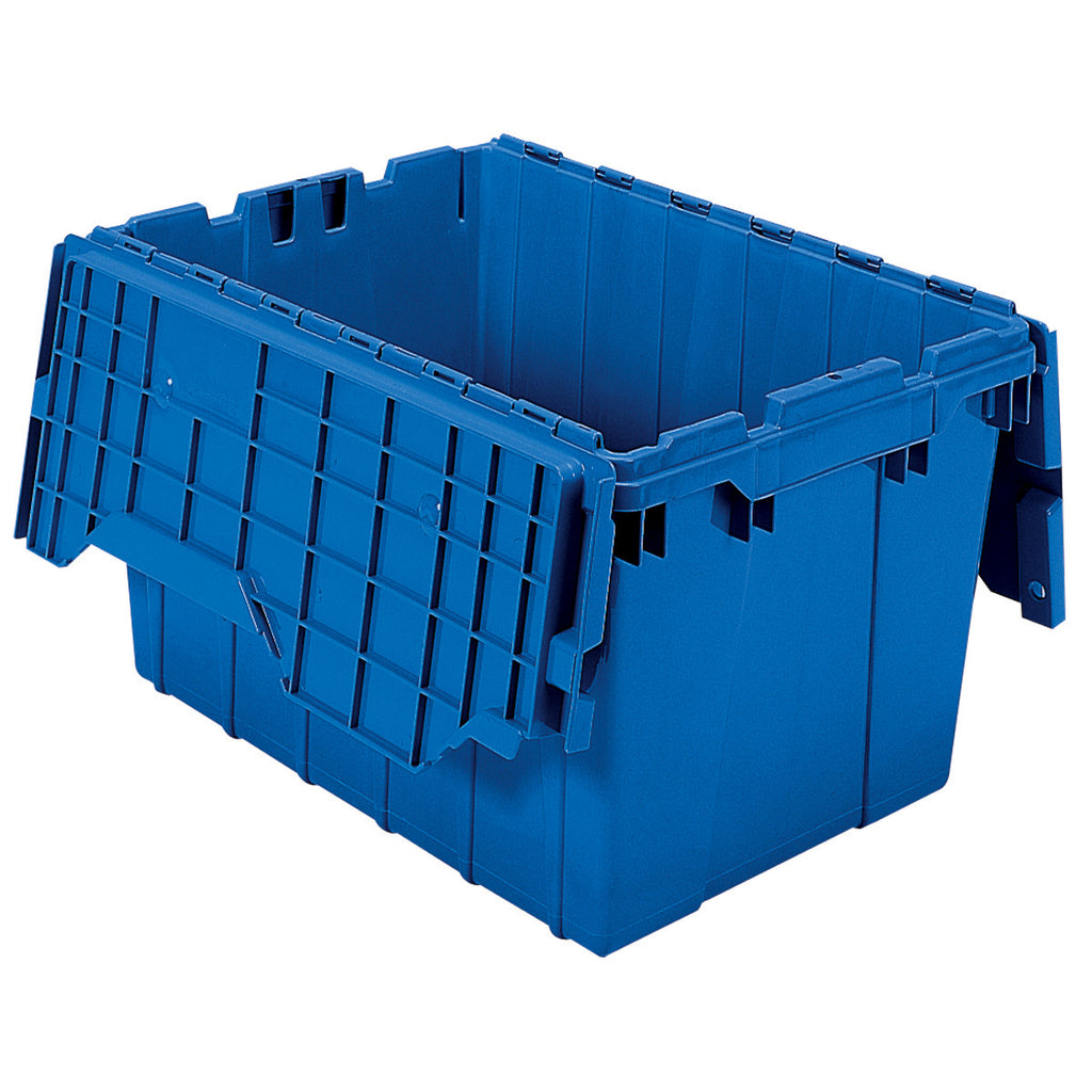 "Akro-Mils Attached Lid Container 39120 21-1/2"" x 15"" x 12-1/2"" - Blue"
