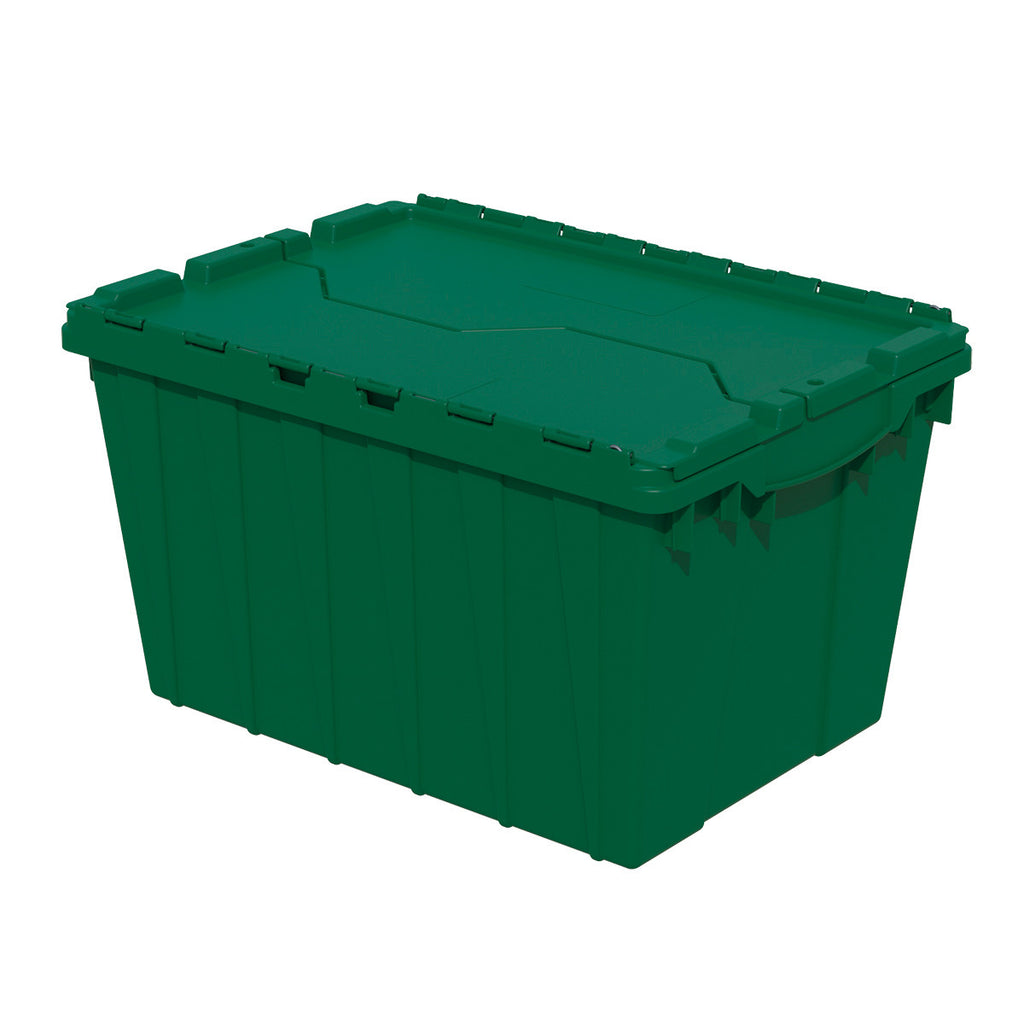 "Akro-Mils Attached Lid Container 39120 21-1/2"" x 15"" x 12-1/2"" - Green"