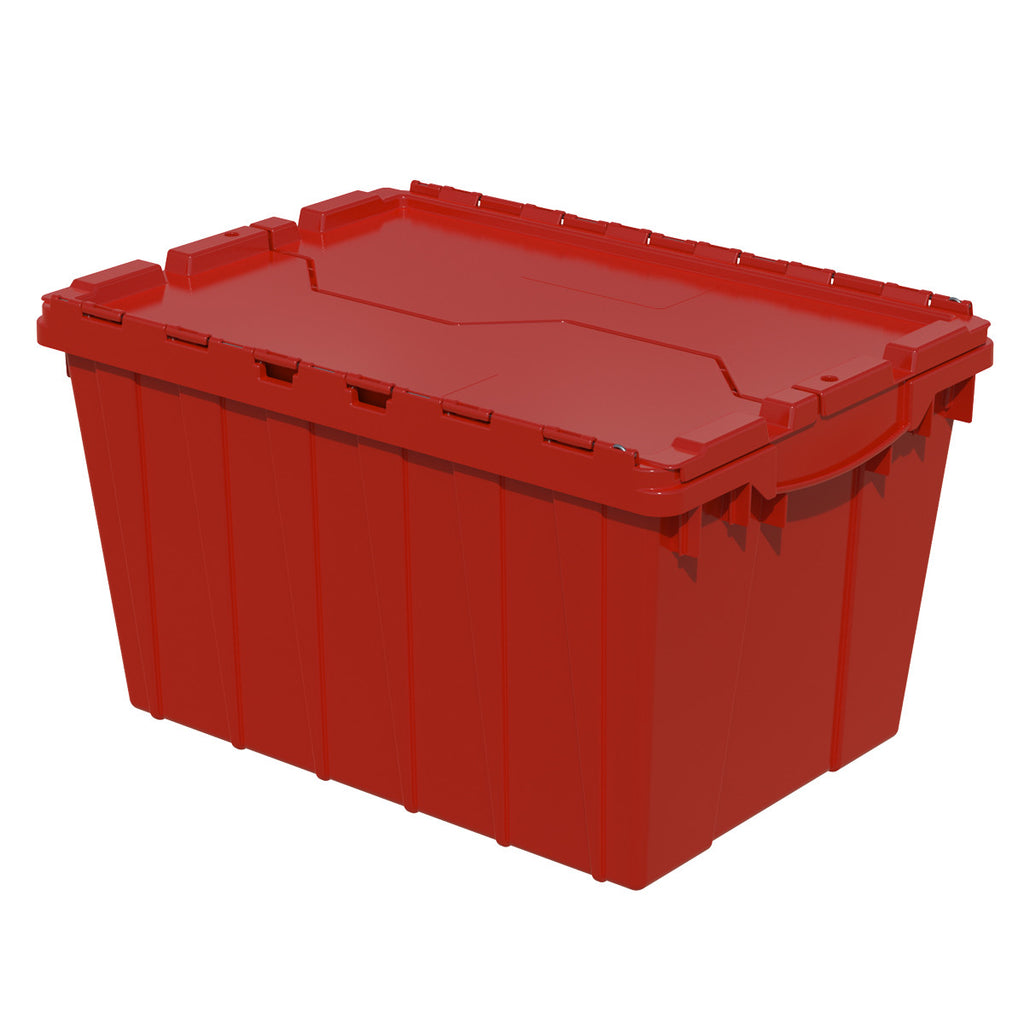 "Akro-Mils Attached Lid Container 39120 21-1/2"" x 15"" x 12-1/2"" - Red"