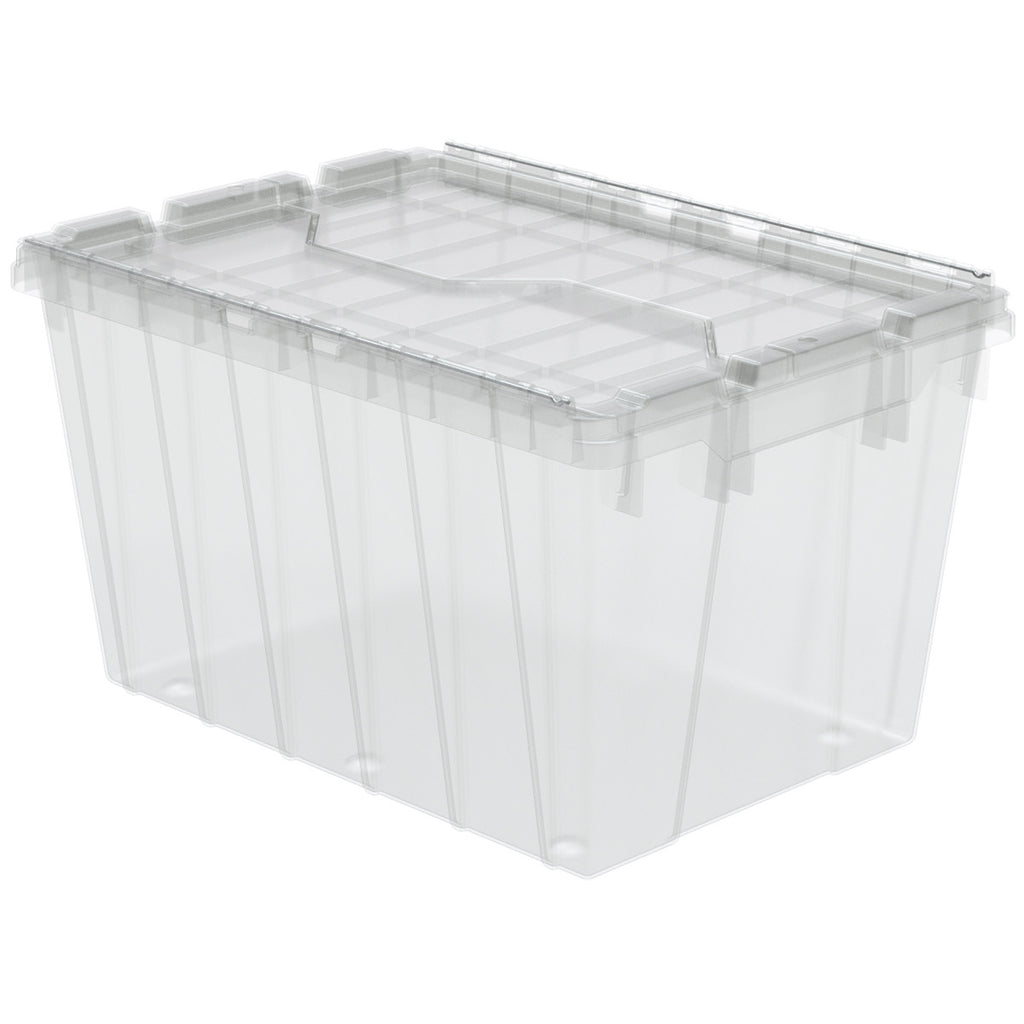"Akro-Mils Attached Lid Container 39120 21-1/2"" x 15"" x 12-1/2"" - Clear"