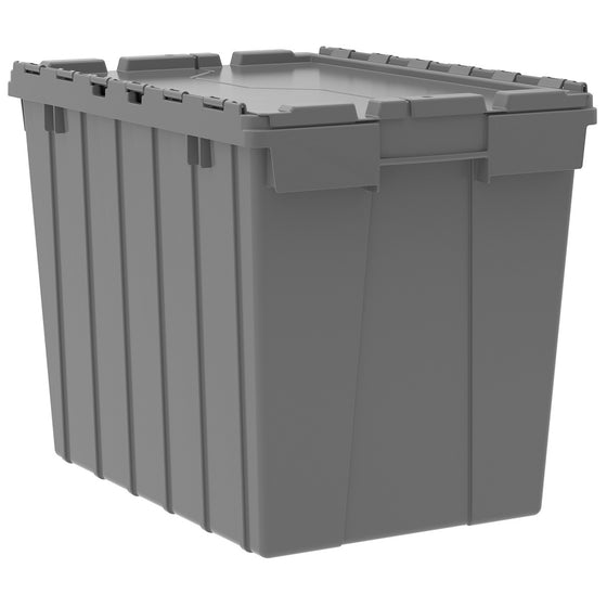 "Akro-Mils Attached Lid Container 39170 21-1/2"" x 15"" x 17"" - Grey"