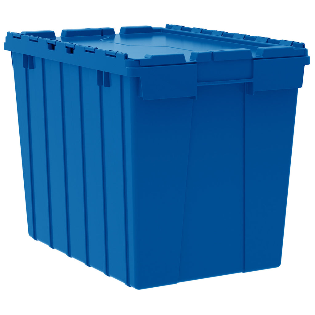 "Akro-Mils Attached Lid Container 39170 21-1/2"" x 15"" x 17"" - Blue"