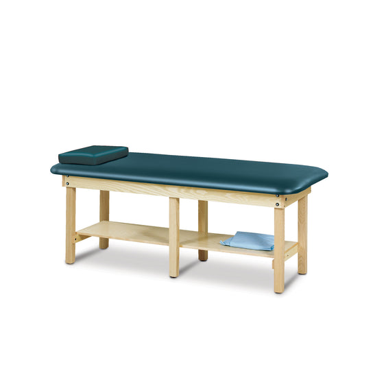"30"" Wide Bariatric Treatment Table with Natural Wood Frame"