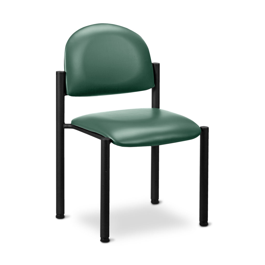 Black Frame Waiting Room Chair - No Arms - Color