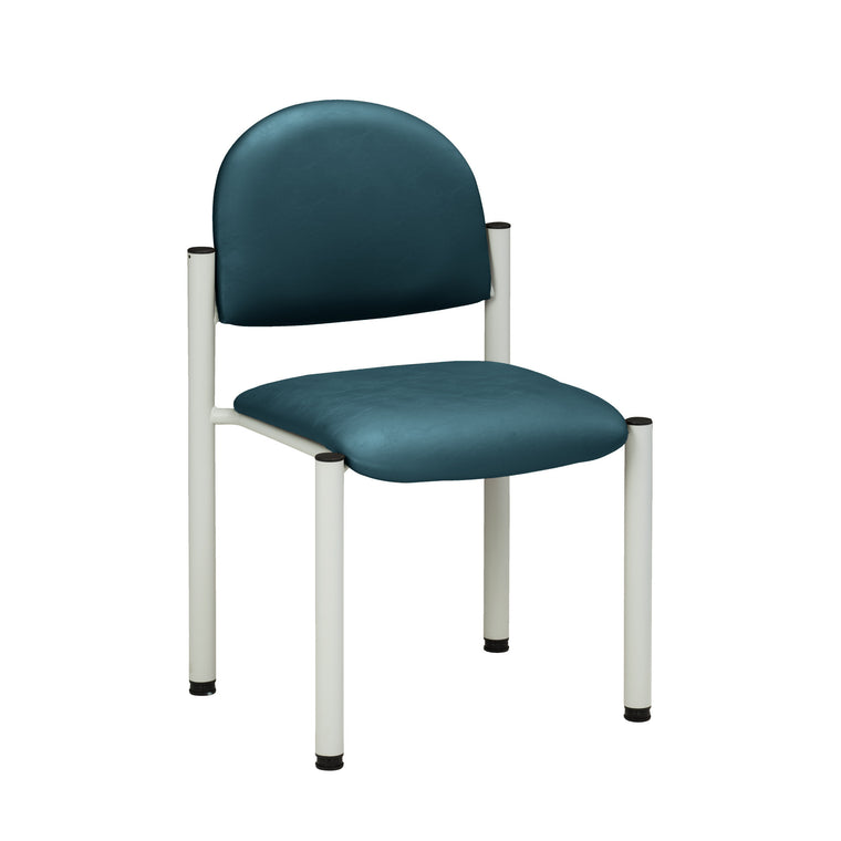 Gray Frame Waiting Room Chair - No Arms - Color