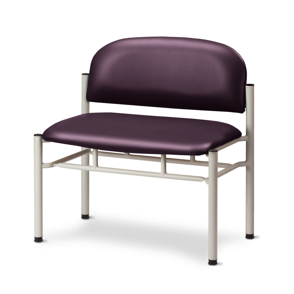 Extra Wide Gray Frame Waiting Room Chair - PurpleGray -