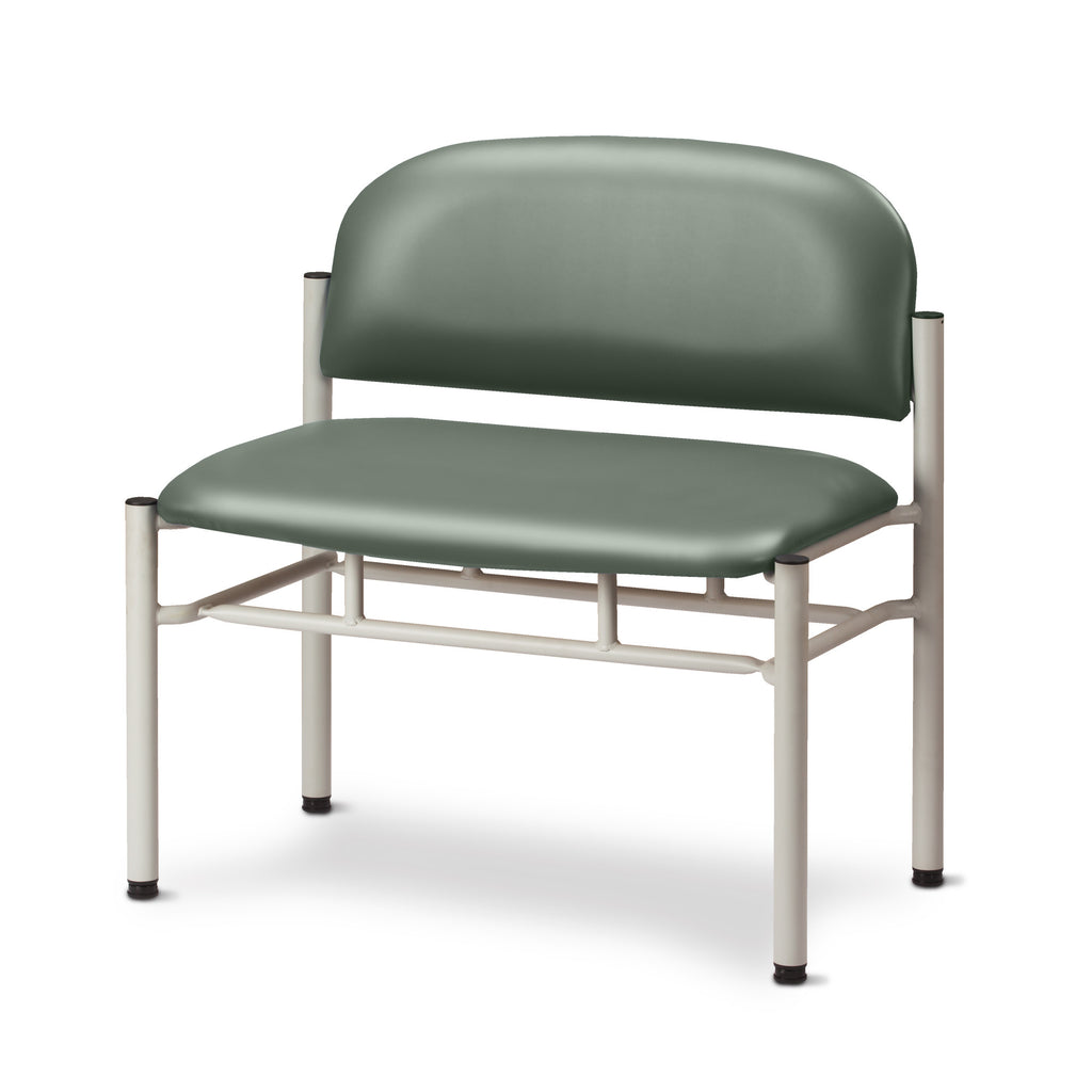 Extra Wide Gray Frame Waiting Room Chair - Soft Jade -