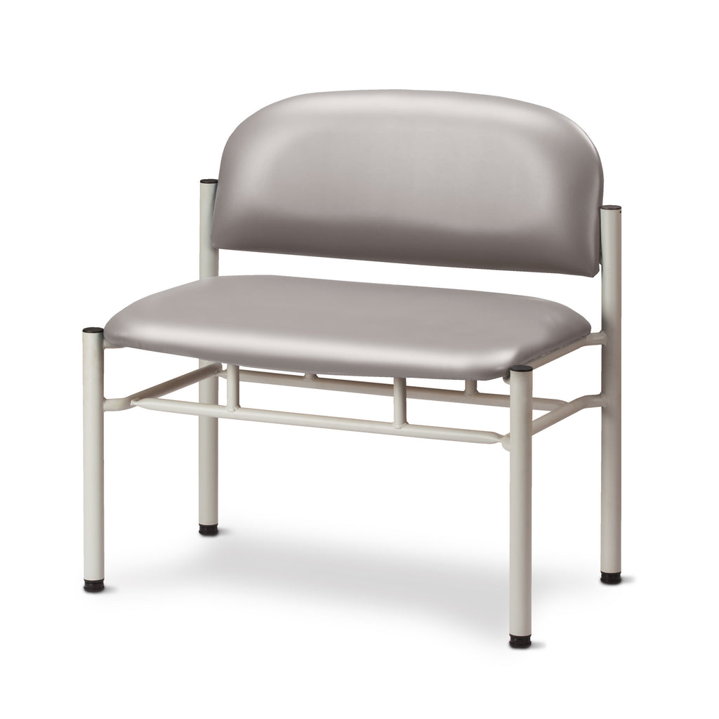 Extra Wide Gray Frame Waiting Room Chair - Cream -
