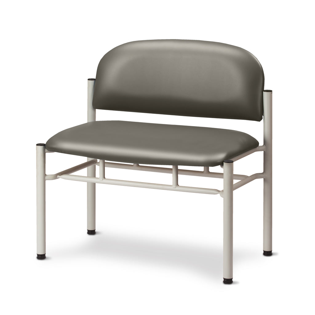 Extra Wide Gray Frame Waiting Room Chair - Warm Gray -