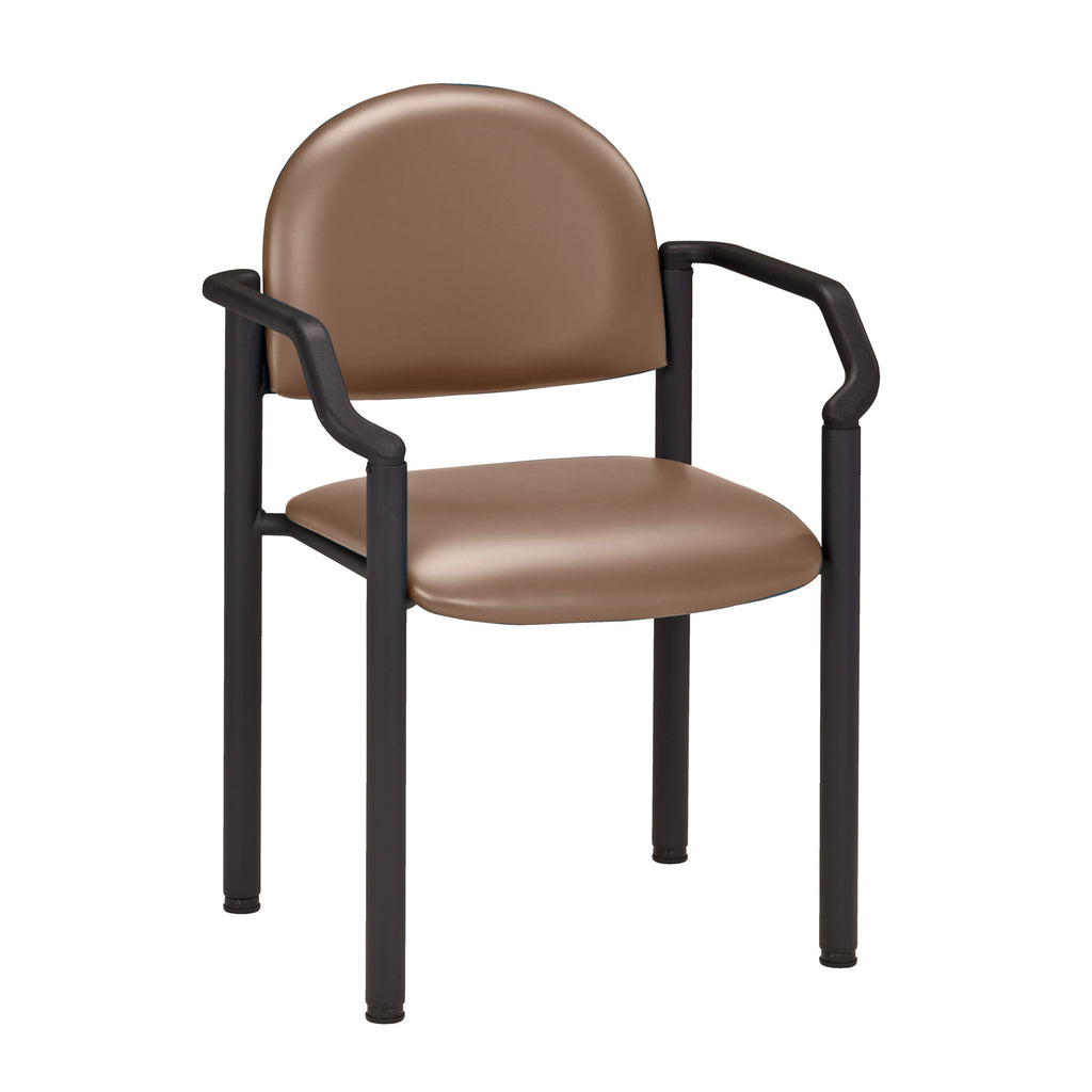 Black Frame Waiting Room Chair - With Arms - Color