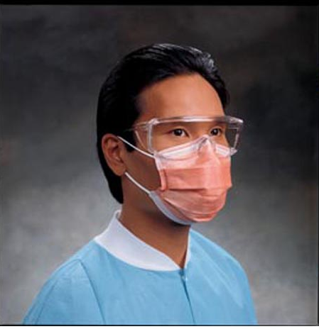 Fluidshield Fog-Free Procedure Mask with Earloops, Orange