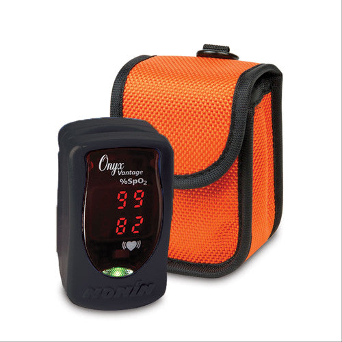 Onyx Vantage 9590 Pulse Oximeter with Protective Sleeve - Black