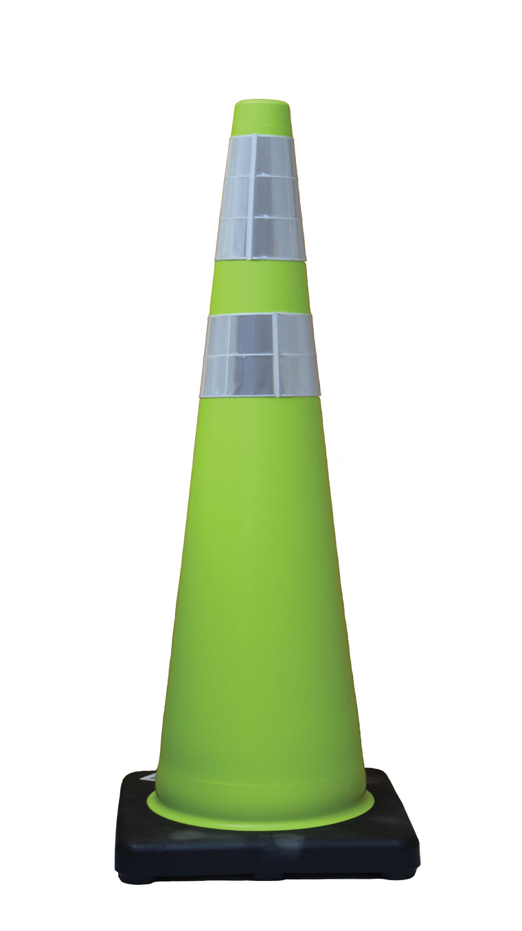 "DW Traffic Cone 36"" Lime 10# 6""/4"" Collars"