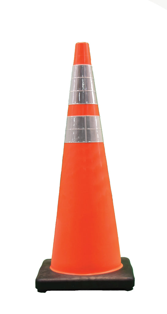 "DW Traffic Cone 36"" Orange 12# 6""/4"" Collars w/black base"