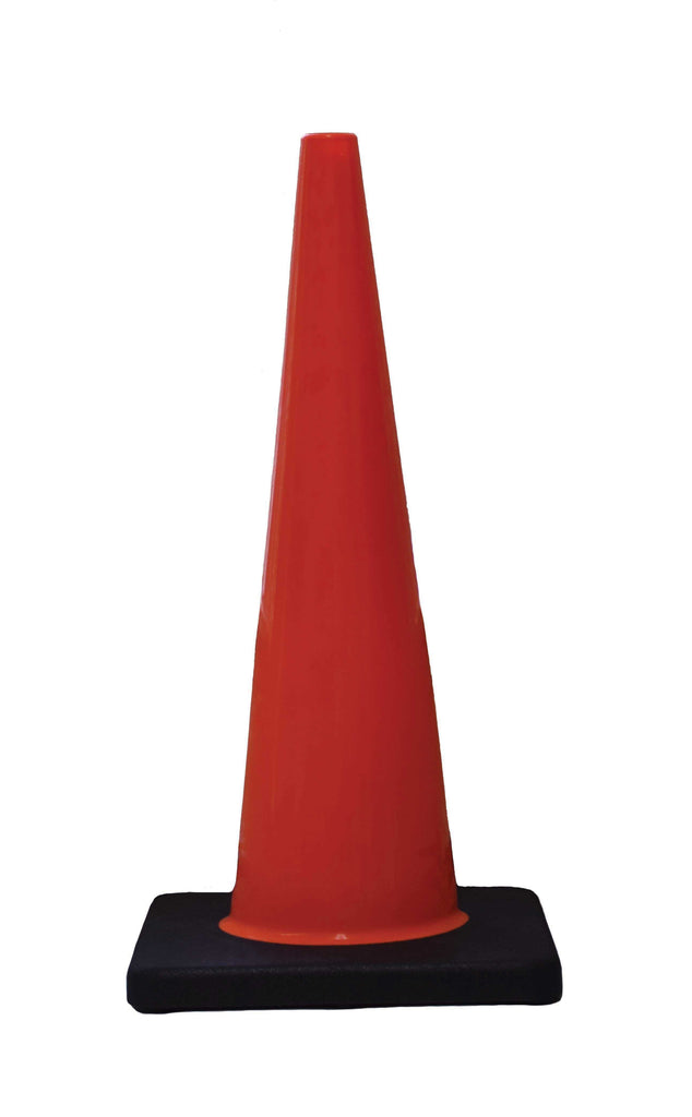 "DW Slim Line Traffic Cone 28"" Orange with Black Base"