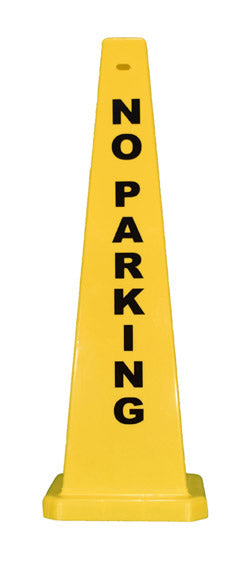 "36"" Yellow Lamba Cone - No Parking"