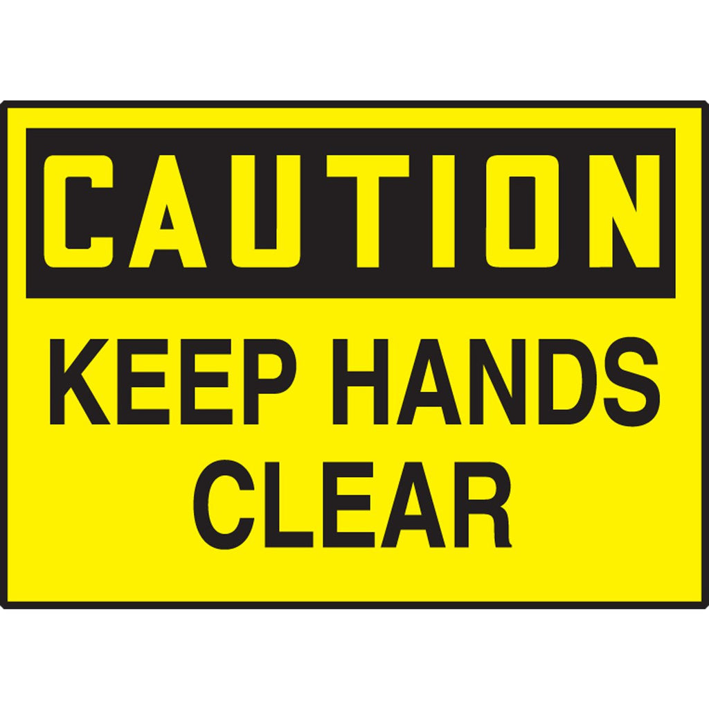 "Safety Label - CAUTION KEEP HANDS CLEAR - 3.5"" x 5"""
