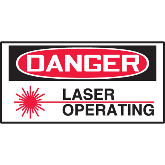 "Safety Label - DANGER LASER BEAM - 1.5"" x 3"""