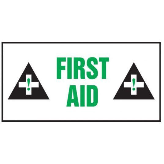 "Safety Label - FIRST AID - 3"" x 7"""