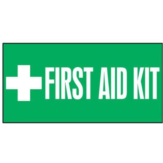"Safety Label - FIRST AID KIT - 3"" x 7"""