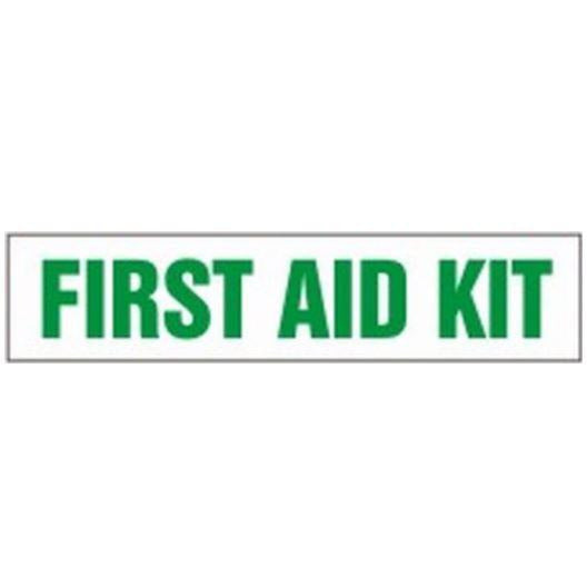 "Safety Label - FIRST AID KIT - 2"" x 9"""
