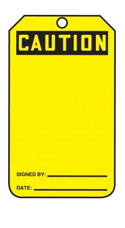 Safety Tag - CAUTION - PF-Cardstock